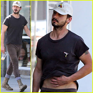 Shia LaBeouf Gives Us a Quick Peek at His Bare Torso