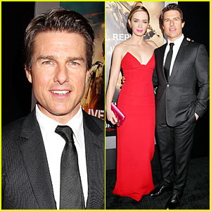 Tom Cruise & Emily Blunt Still Have Energy at Final 'Edge of Tomorrow' Premiere of the Day!