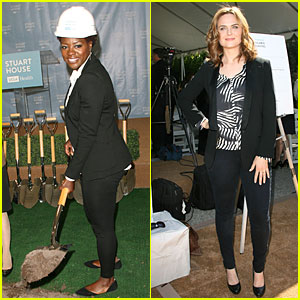 Viola Davis & Emily Deschanel Celebrate New Facility Construction for Sexually Abused Kids!