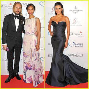 Zoe Saldana & Eva Longoria Bring Star Power to Global Gift Gala Dinner!