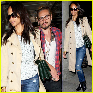 Zoe Saldana & Hubby Marco Perego Return to L.A. After Cannes Film Festival!