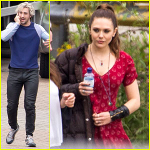 Aaron Taylor-Johnson & Elizabeth Olsen Film 'Avengers' with a Bunch of Stunt Doubles!