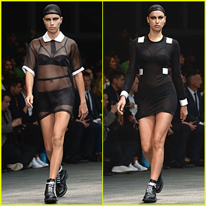 Adriana Lima & Irina Shayk Rock Sheer Outfits at Givenchy Fashion Show!