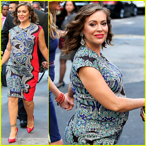 Pregnant Alyssa Milano Looks Glowing with a Large Baby Bump