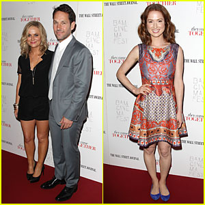Amy Poehler & Paul Rudd Tell How 'They Came Together' in NYC!