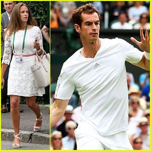 Andy Murray's Girlfriend Kim Sears Supports Him at Wimbledon