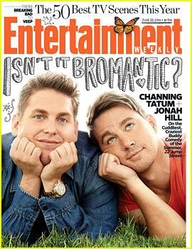 Channing Tatum & Jonah Hill Get Bromantic on EW's '22 Jump Street' Cover!