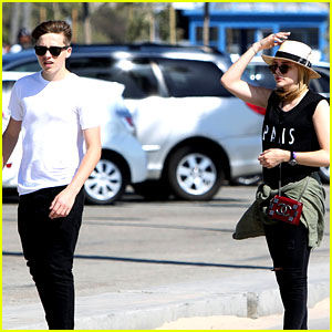 Chloe Moretz Went Skateboarding with Brooklyn Beckham