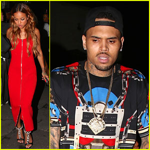 Chris Brown & Girlfriend Karrueche Tran Party Away at BET Awards After Party