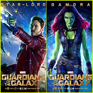 Chris Pratt & Zoe Saldana Get Their Own 'Guardians of the Galaxy' Character Posters!