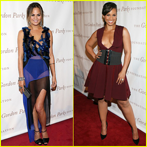 Chrissy Teigen & Alicia Keys are Dressed to the Nines for Gordon Parks Foundation Awards Dinner!