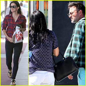 Courteney Cox & Her Ex Husband David Arquette Meet Up for a Day with Family!