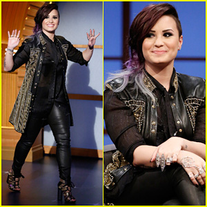 Demi Lovato Visits 'Late Night with Seth Meyers,' Believes Aliens & Mermaids Are Real!