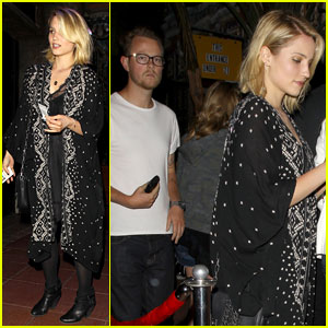 Dianna Agron & Mystery Guy Hit Up the Jack White Concert!