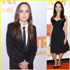 Ellen Page & Lucy Liu Are Happy to Support Trevor Project's TrevorLive!