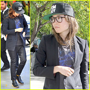 Ellen Page Gets Into the Stanley Cup Spirit at L.A. Kings Game!