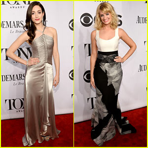 Emmy Rossum & Beth Behrs Are Beautiful for Broadway's Tony Awards 2014!