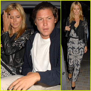 Heidi Klum & Young Beau Vito Schnabel Party in London