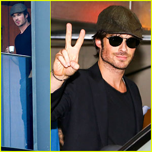 Ian Somerhalder Tells His Brazilian Fans to Stop Screaming