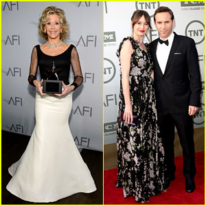 Jane Fonda Supported by 'Newsroom' Co-stars at AFI Lifetime Achievement Award Event