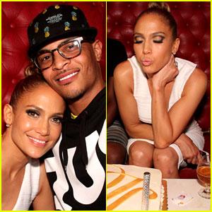 Jennifer Lopez Celebrates Her Hometown Concert with T.I.!