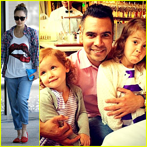 Jessica Alba's Daughters Won't Smile for Dad on Father's Day