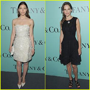Jessica Biel & Hilary Swank Bring Class to Tiffany & Co. Store Launch!