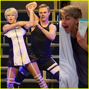 Julianne Hough Posts 'Acne Cream Selfie' After Move Show with Brother Derek!
