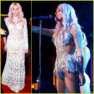 Kesha Jumps for Joy After Attending Life Ball in Vienna