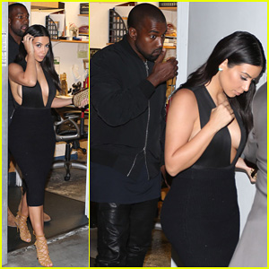 Kim Kardashian & Kanye West Step Out for Dinner at Craig's After Celebrating Baby North's First Birthday!