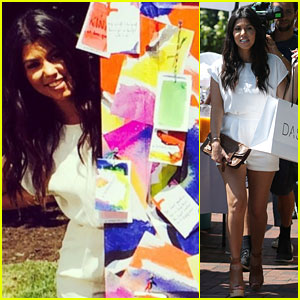 Kourtney Kardashian Paints with Alice + Olivia's Stacey Bendet