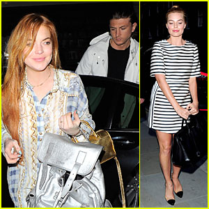 Lindsay Lohan & Margot Robbie Are Hot Red Heads at Chiltern Firehouse!