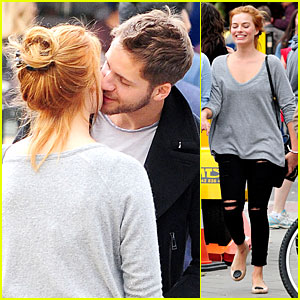 Margot Robbie Smooches Tom Ackerley in London!