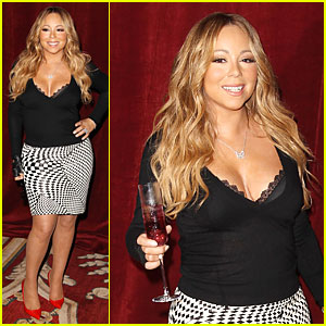 Mariah Carey's Lacy Bra Gets Exposure at Go N' Syde's Butterfly Launch!