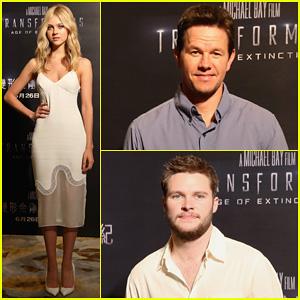 Mark Wahlberg & Nicola Peltz Tone It Down for 'Transformers 4' Hong Kong Photo Call!