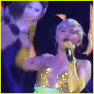 Miley Cyrus Shows She Isn't A Fan of Selena Gomez; Disses Singer At 'Bangerz' Concert in Italy!