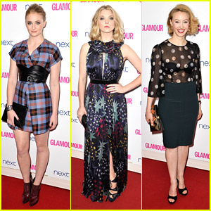 Natalie Dormer & Sophie Turner: Glamour Women of the Year Awards 2014 with Sarah Gadon