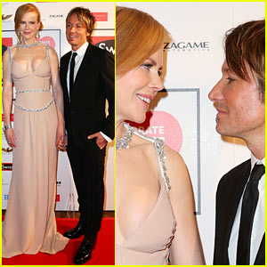 Nicole Kidman & Keith Urban Share a Loving Glance at Celebrate Life Ball!