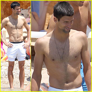 Novak Djokovic is Happy & Shirtless On His Bachelor Party Vacation!