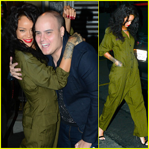 Rihanna Poses with Excited Fan Before Late Night Studio Session!