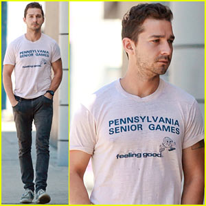 Shia LaBeouf is 'Feeling Good' Before His Workout!