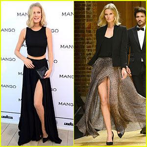 Toni Garrn Has Legs For Days at Mango Fashion Show in Barcelona!