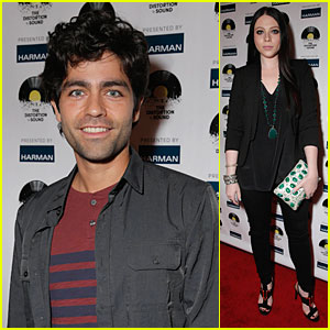 Adrian Grenier & Michelle Trachtenberg See 'The Distortion of Sound'