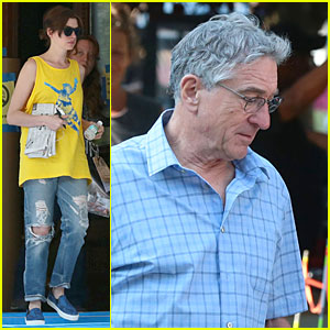 Anne Hathaway & Robert De Niro Get Back to Work on 'The Intern' After Independence Day Weekend!