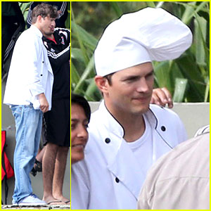 Ashton Kutcher Is Such a Handsome Chef in Brazil!
