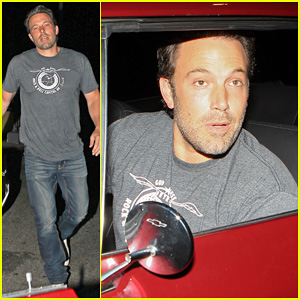 Ben Affleck Steps Out for Solo Dinner at The Hungry Cat After Attending Comic-Con!