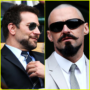 Bradley Cooper & Hugh Jackman Catch the Wimbledon Finals!