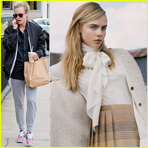 Cara Delevingne Goes Preppy for New Fall Mulberry Campaign