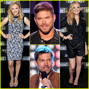 Chloe Moretz & Kellan Lutz Get the Fans Pumped at Comic-Con's MTVu Fandom Awards!