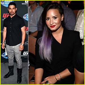 Demi Lovato & Boyfriend Wilmer Valderrama Check Out the UFC Fight Together!